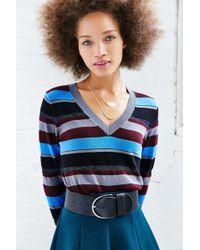 Cooperative Shimmer V-neck Sweater - Multicolor