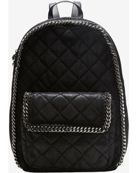 Stella McCartney Quilted Backpack Black - Lyst