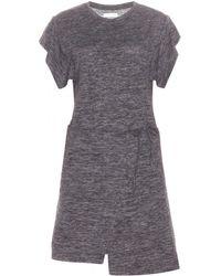 Étoile Isabel Marant Linen And Wool-blend Dress - Grey