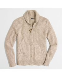 J.Crew Factory Donegal Full-zip Cardigan - Lyst