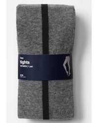 Gap Tuxedo Stripe Tights - Gray