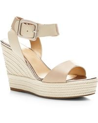 Sergio Rossi Eleanor Suede And Leather Wedges - Lyst