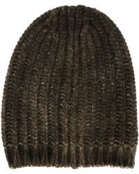 Avant Toi - Ribbed Knit Beenie - Lyst