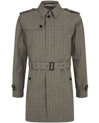 Hackett - Prince Of Wales Trench Coat - Lyst