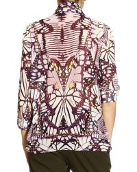 Just Cavalli Shirt Sleeve Long Printed Butterfly - Lyst