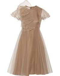 Valentino Ruffled Tulle Dress - Lyst