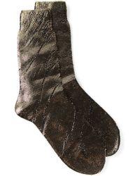 Ann Demeulemeester Metallic Cashmere and Wool-Blend Socks