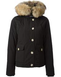 Woolrich Racoon Fur Trimmed Parka - Lyst