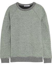 T By Alexander Wang Rainbow Cotton-terry Sweatshirt - Lyst
