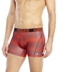 Adidas Red Graphic Print Climacool Trunks - Lyst