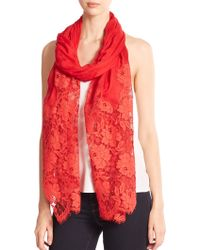 Valentino Roses Lace Cashmere & Modal Shawl - Lyst