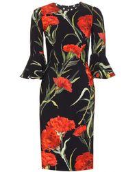 Dolce & Gabbana Multicolor Crepe Dress - Lyst