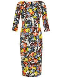 Erdem Wilhemina Floral-print Dress - Lyst