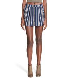 Blu Pepper - Stripe Shorts - Lyst