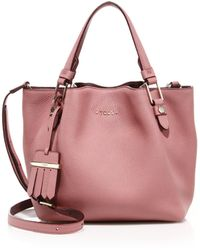 Tod's Flower Mini Tote pink - Lyst