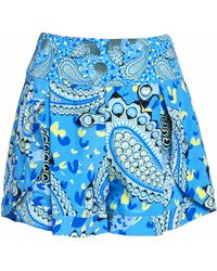 Matthew Williamson Peacock Paisley Print Silk Shorts - Lyst