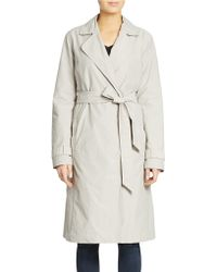 Eileen Fisher Fitted Trench Coat - Lyst