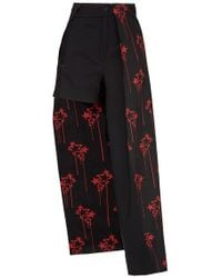Anthony Vaccarello - Asymmetric Printed Pant-shorts - Lyst