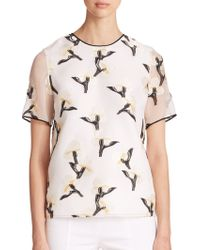 Tory Burch Sage Floral Embroidered Top - Lyst