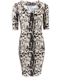 Blumarine Slim Stretch Printed Dress - Lyst
