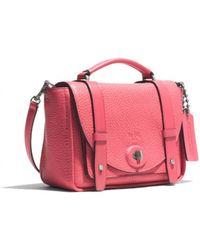 Coach Bleecker Mini Brooklyn Messenger Bag in Pebbled Leather - Lyst