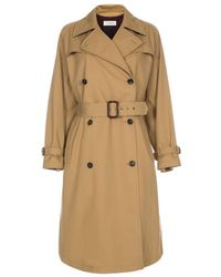 Paul Smith Camel Trench Coat With Checked Wool Lining - Natural
