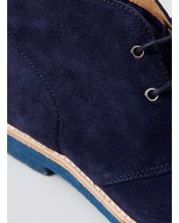 LAC - Union Navy Suede Chukka Boots - Lyst