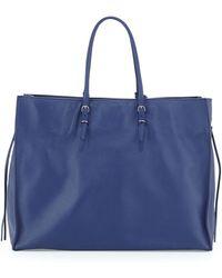Balenciaga Papier A4 Side-Zip Leather Tote Bag blue - Lyst