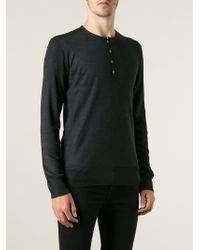 John Varvatos Button Fastening Fitted Sweater - Lyst
