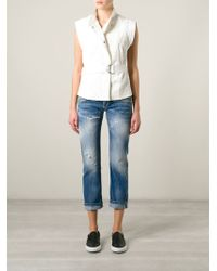 Dondup Distressed Cropped Jeans - Lyst