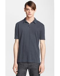 James Perse Trim Fit Sueded Cotton Jersey Polo - Lyst