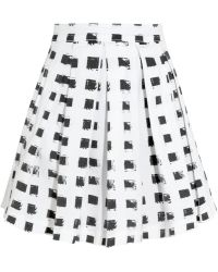 Lulu & Co - Printed Stretchcotton Skirt - Lyst