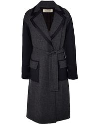 Nina Ricci Wool And Cashmere Blend Coat With Contrasted Details - Lyst