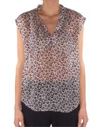 Rebecca Taylor Sleeveless Leopard Fever Top animal - Lyst
