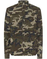 Balmain Camo Print Shirt - Lyst
