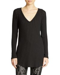 Free People Ribbed V Neck Tunic - Lyst
