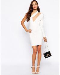 AQ/AQ Shay One Shoulder Mini Dress - Lyst