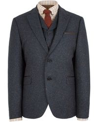 Gibson - Patterned Notch Collar Tailored Fit Suit Jacket - Lyst