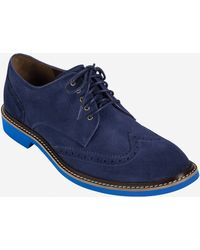 Cole Haan Franklin Wingtip Oxford blue - Lyst