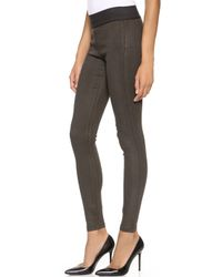 Citizens Of Humanity Greyson Leggings Brown Suedette - Lyst
