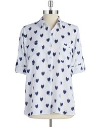 4our Dreamers - Heart Print Shirt - Lyst