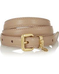 Miu Miu Skinny Leather Belt - Lyst