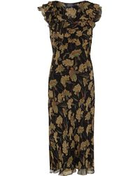 Polo Ralph Lauren Floral Printed Silk Dress - Lyst