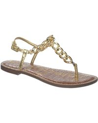 Sam Edelman Grella Metal Thong Sandals - Lyst
