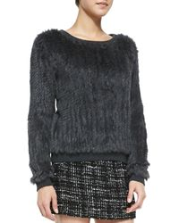 Milly Knitted Fur Sweater - Lyst