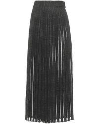 Thom Browne Pleated Maxi Skirt - Black