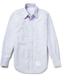 Thom Browne Button-down Collar Cotton Oxford Shirt - Lyst