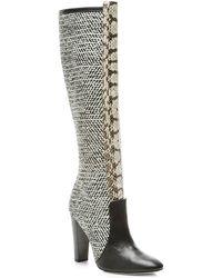 Oscar de la Renta Black & White Brooke Boot - Multicolor