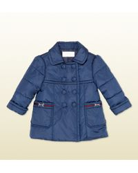 Gucci Waterproof Nylon Doublebreasted Jacket - Lyst