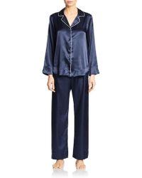 Oscar de la Renta Monochrome Pajama Set - Lyst